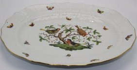 """Pair Of Herend """"rothschild"""" Serving Platters"""