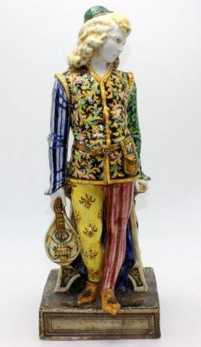 Italian Hand Painted Porcelain Figure Of Man