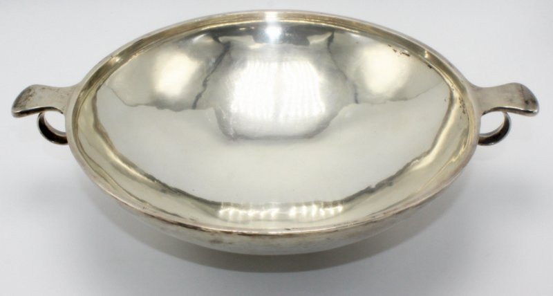 Rare Georg Jensen Sterling Footed & Handled Bowl