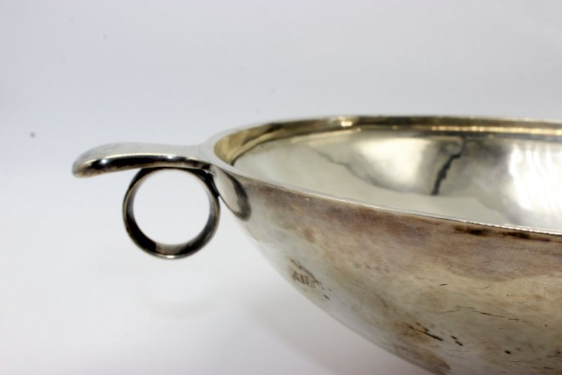 Rare Georg Jensen Sterling Footed & Handled Bowl - 2