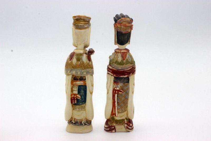 Pair of Chinese Carved Polychrome Ivory Snuff Bottles - 2