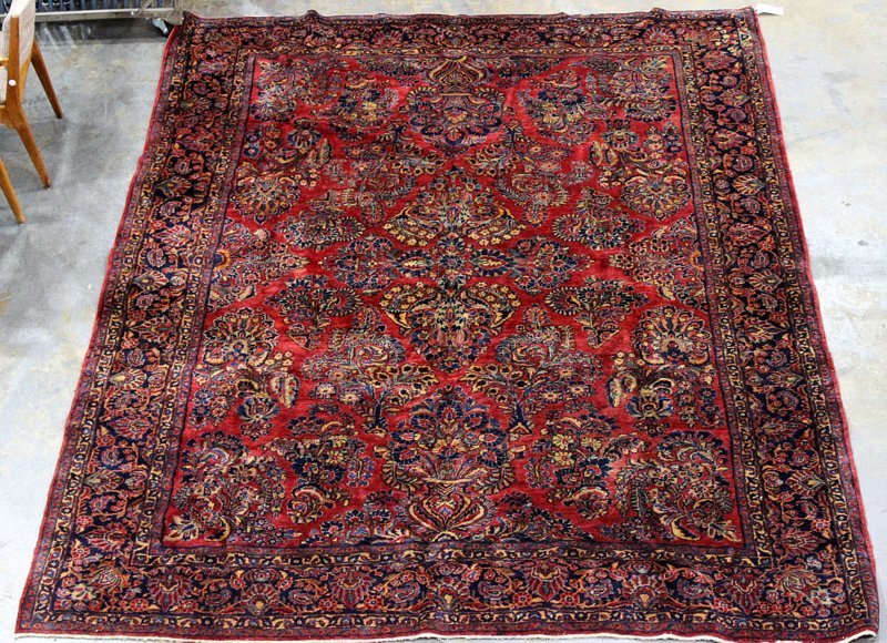 Antique Palace Size Persian Sarouk Rug