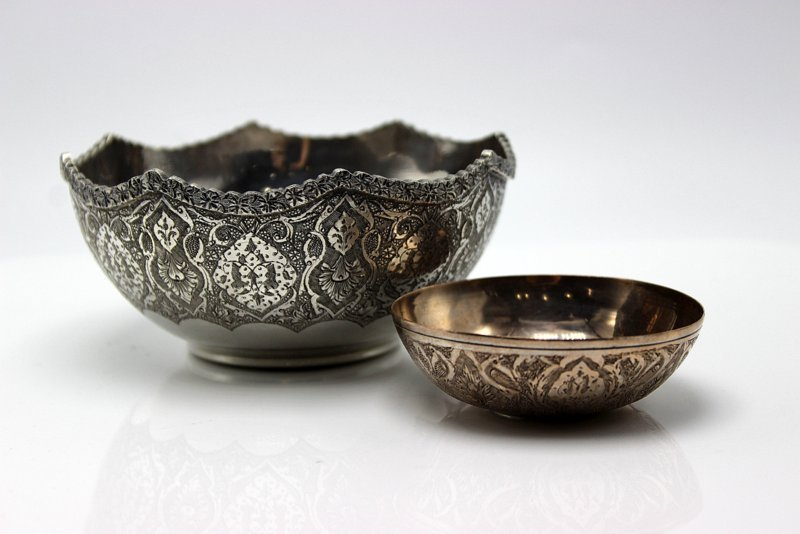 2 Pc. Persian Sterling Bowls