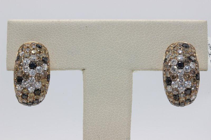 18Kt YG 3.08ct. Diamond Earrings