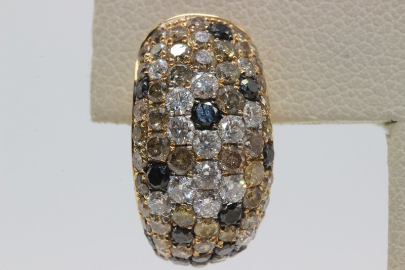 18Kt YG 3.08ct. Diamond Earrings - 2