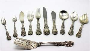 """80 Pc. Reed & Barton """"Francis 1st"""" Sterling Flatware"""