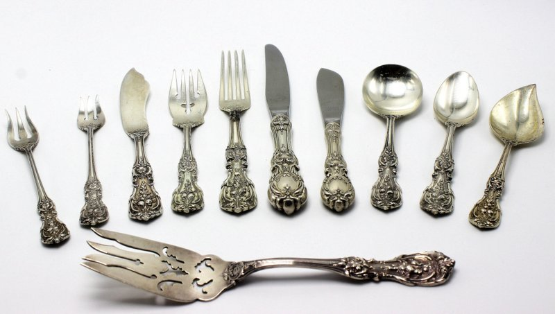 "80 Pc. Reed & Barton ""Francis 1st"" Sterling Flatware"