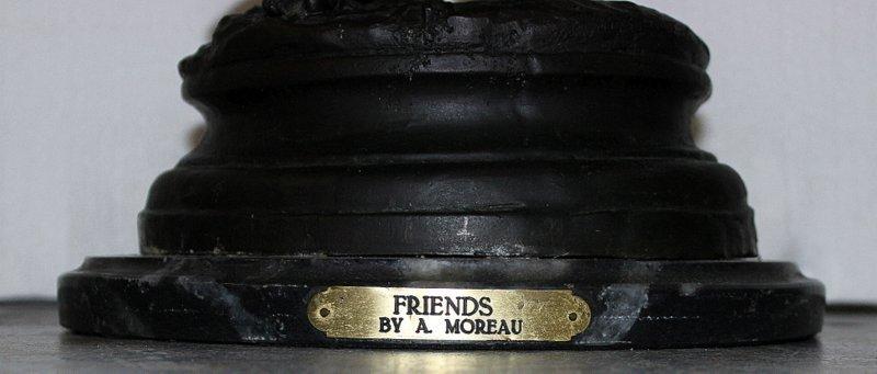 "After A. Moureau ""Friends"" Bronze Group - 5"