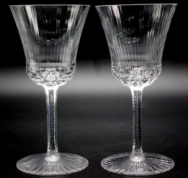 """8 Pc. St. Louis """"Apollo"""" Crystal White Wine Glasses"""