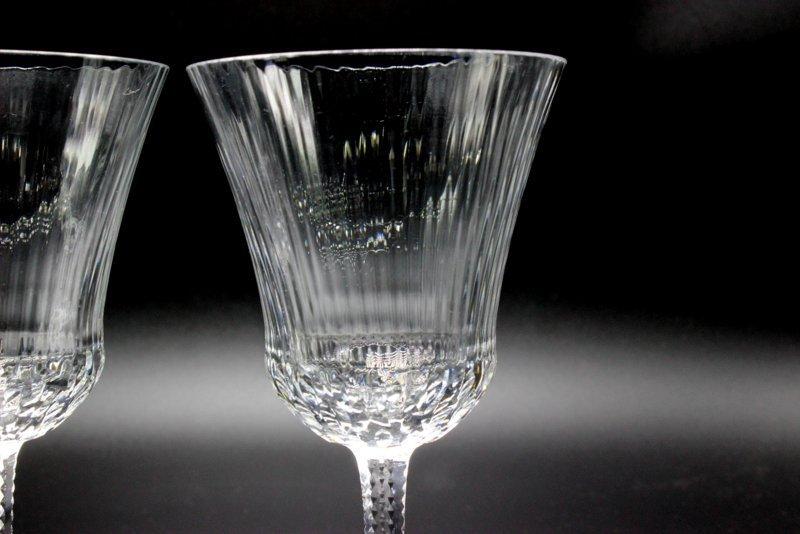 """8 Pc. St. Louis """"Apollo"""" Crystal White Wine Glasses - 2"""
