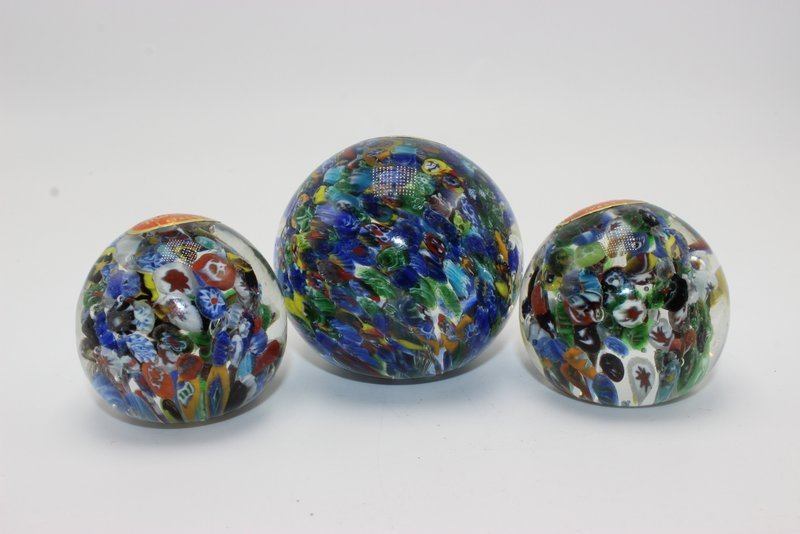 3 Pc. Murano Glass Paperweights