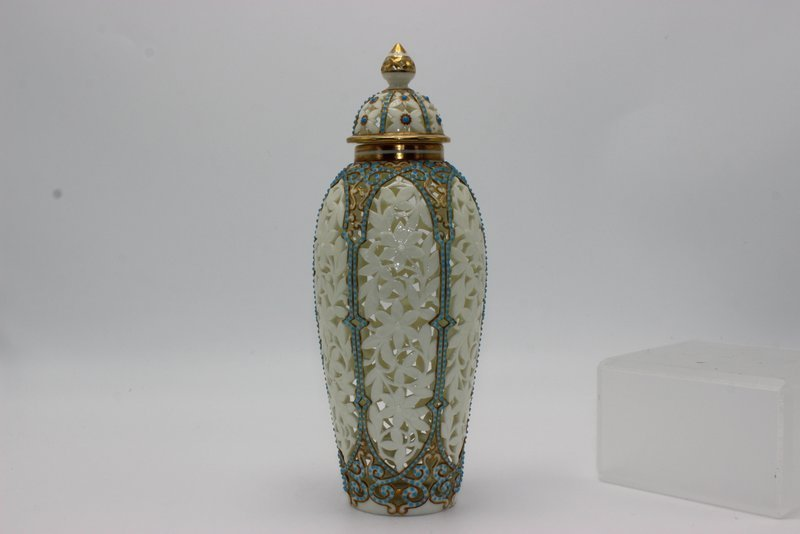 Beautiful German Reticulated Porcelain & Turquoise