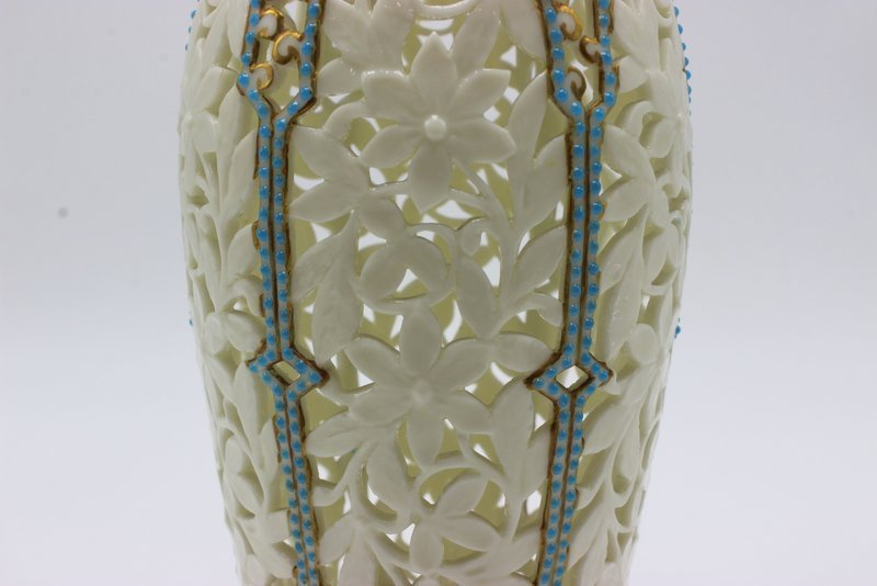 Beautiful German Reticulated Porcelain & Turquoise - 4