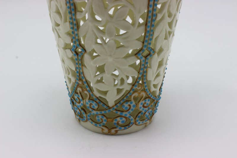 Beautiful German Reticulated Porcelain & Turquoise - 5