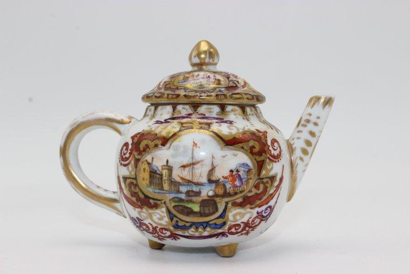 Meissen August Rex Miniature Porcelain Tea Pot