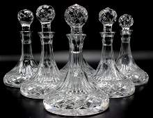 8 Pc. Cut Crystal Decanters