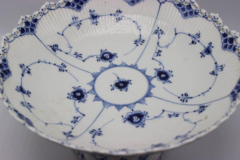 Royal Copenhagen Blue & White Laced Porcelain Compote - 3