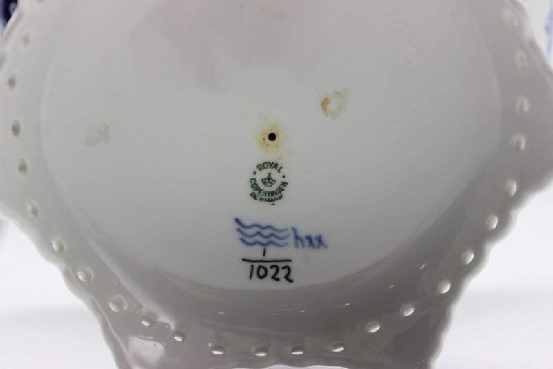 Royal Copenhagen Blue & White Laced Porcelain Compote - 4