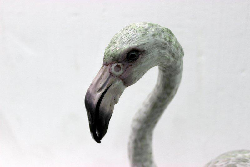 Rare Meissen Hand Painted Porcelain Flamingo Figure - 3