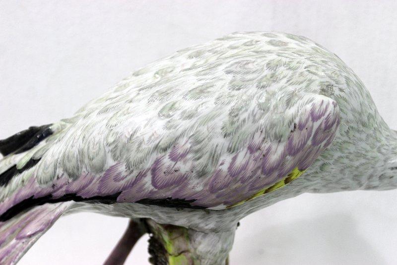 Rare Meissen Hand Painted Porcelain Flamingo Figure - 6
