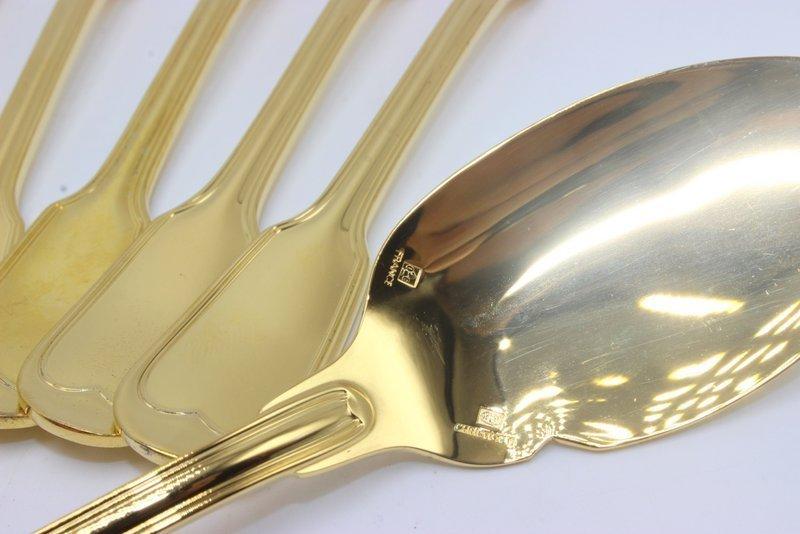 "11 Pc. Christofle ""Chinon"" Vermeil Spoons - 5"