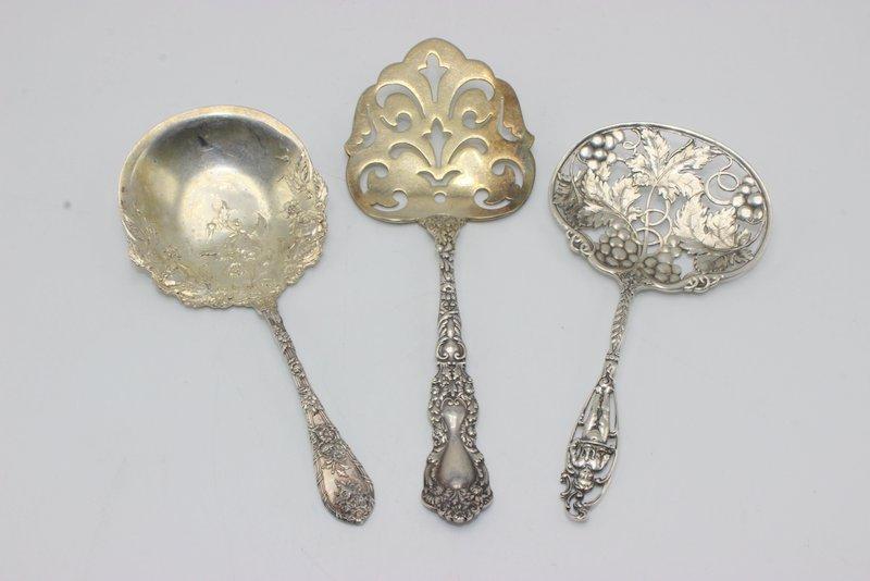 3 Pc. Sterling Bon Bon Spoon