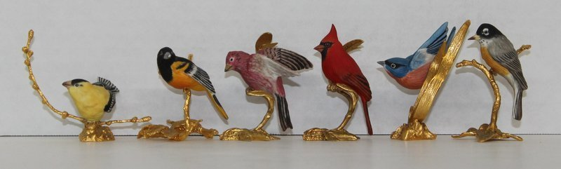 6 Pc. Boehm Miniature Porcelain Birds on Branches