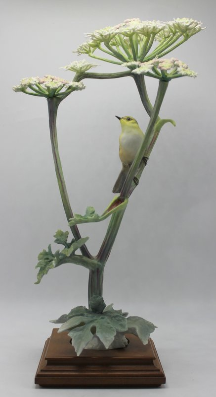 Royal Worcester Bisque Bird & Flowers