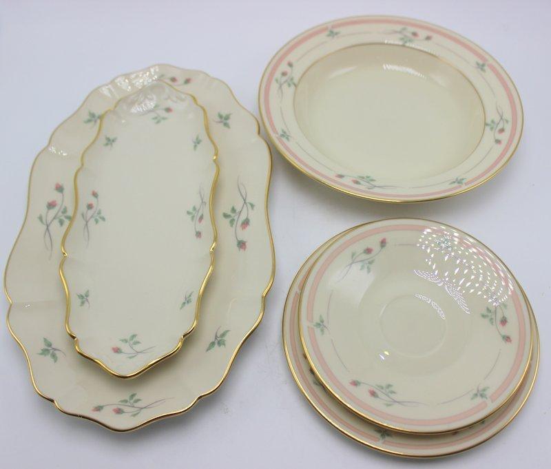 "97 Pc. Lenox ""Rose Manor"" Porcelain China Set"