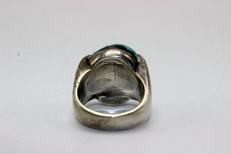 Turquoise & Sterling Ring - 4