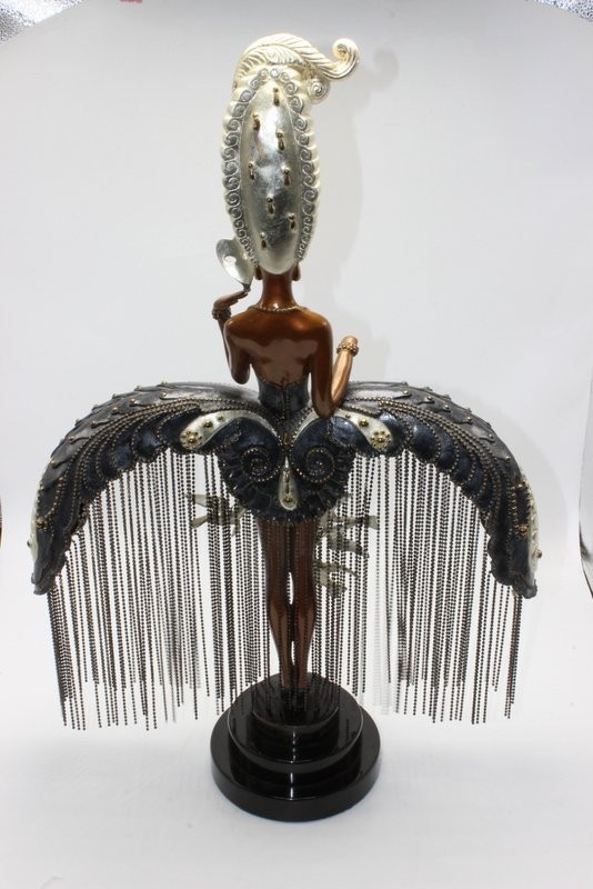 "Erte ""Her Secret Admirers"" Bronze Statue - 5"
