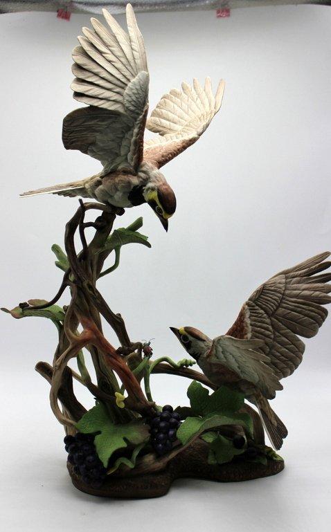 "Large Boehm ""Horned Lark"" Porcelain Figure"