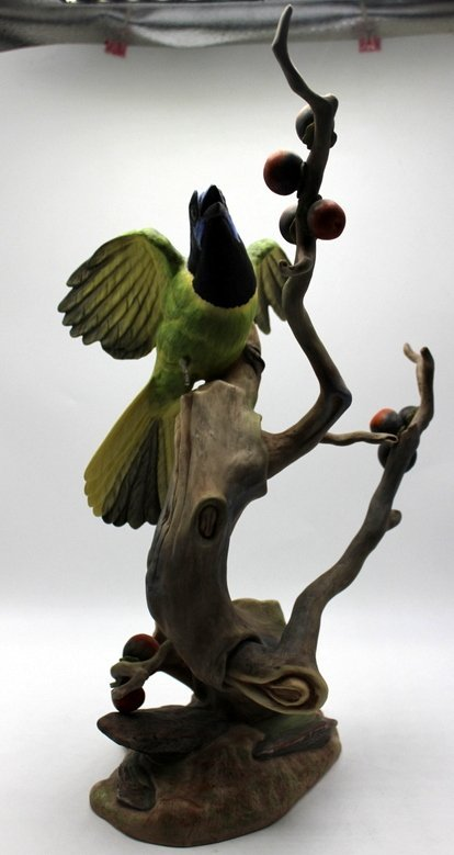 "Large Boehm ""Green Jayes"" Porcelain Figure"