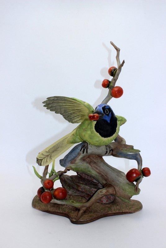 "Boehm ""Green Jayes"" Porcelain Figure"