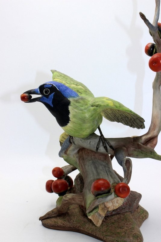 "Boehm ""Green Jayes"" Porcelain Figure - 2"