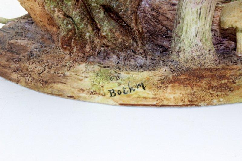 """Boehm """"Nuthatch Mushroom"""" Porcelain Figure - 3"""