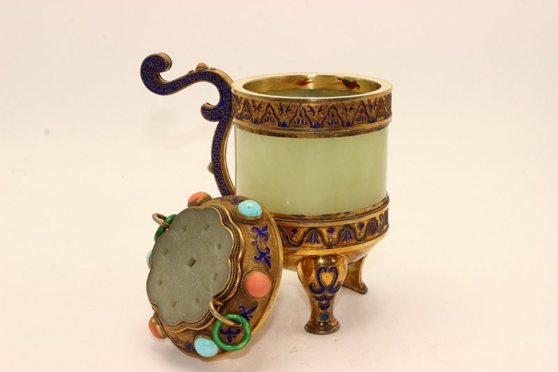 Beautiful Republic Period Chinese Handled Censer - 5