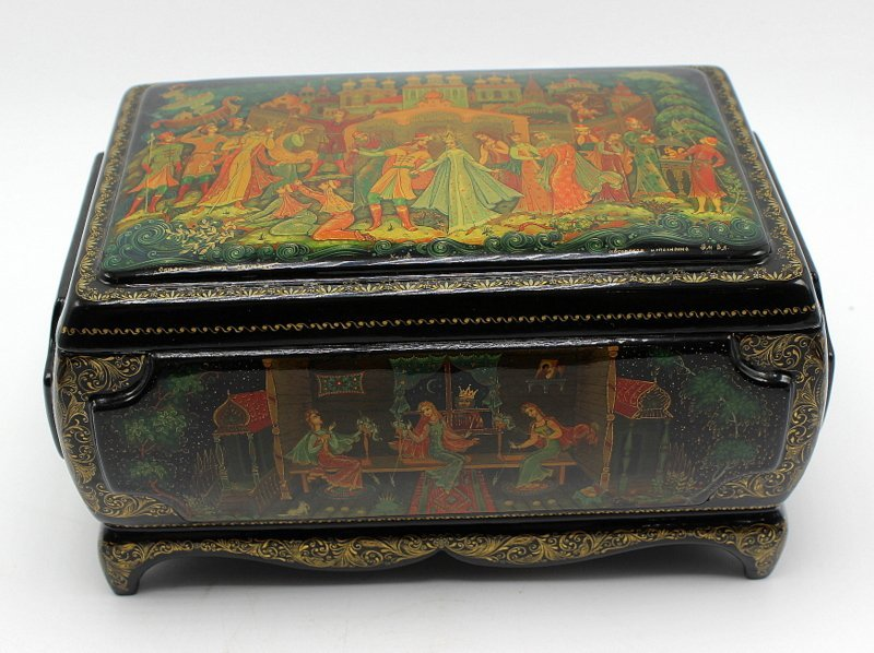 Large Russian Lacquer Box