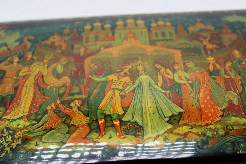 Large Russian Lacquer Box - 2