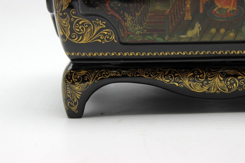Large Russian Lacquer Box - 3