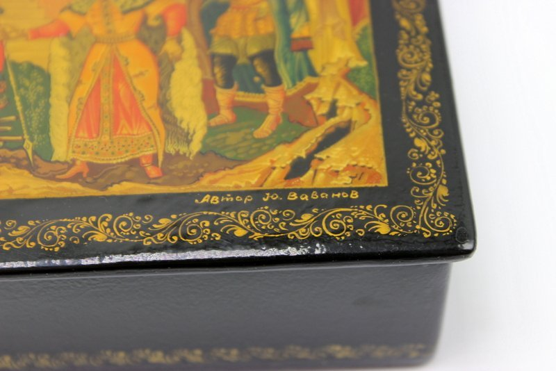 Large Russian Lacquer Box - 5