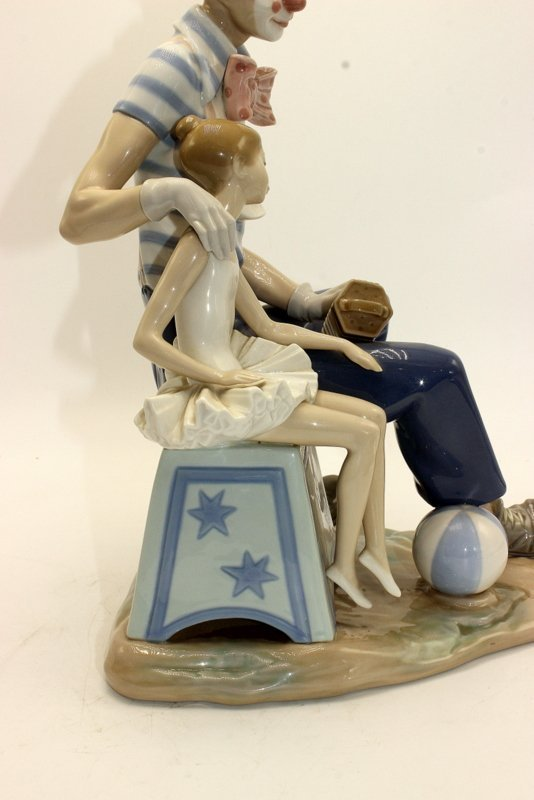 """Lladro """"Clown and Girl with Concertina & Ball"""" #5052 - 4"""