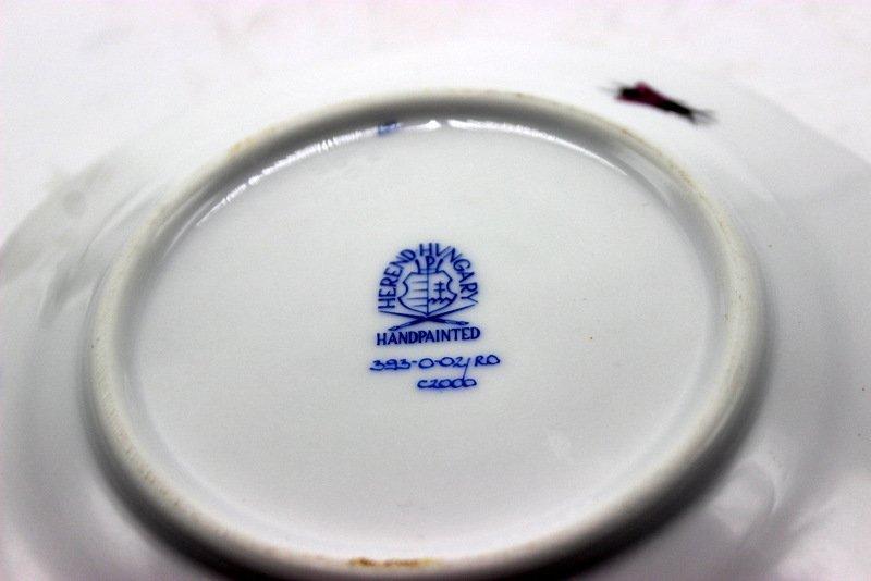 "Herend ""Rothschild"" Bird Porcelain Covered Butter Dish - 5"