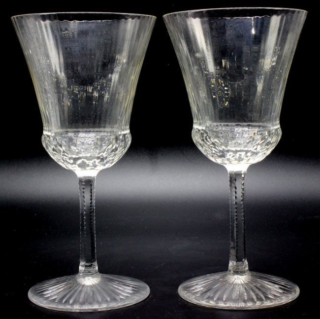 """8 Pc. St. Louis """"Apollo"""" Crystal Water Goblets"""