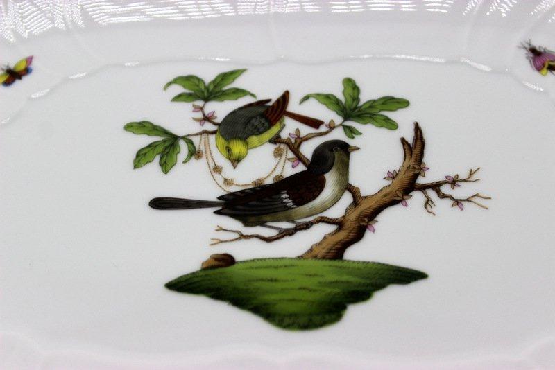 "Herend ""Rothschild"" Birds Porcelain Oblong Porcelain - 2"