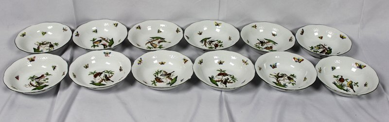 """12 Herend """"Rothschild"""" Porcelain Bowls"""