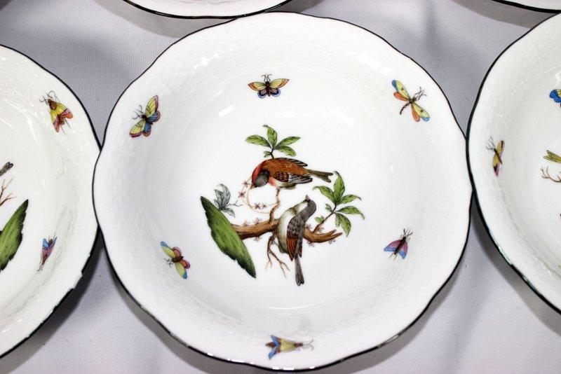 """12 Herend """"Rothschild"""" Porcelain Bowls - 2"""