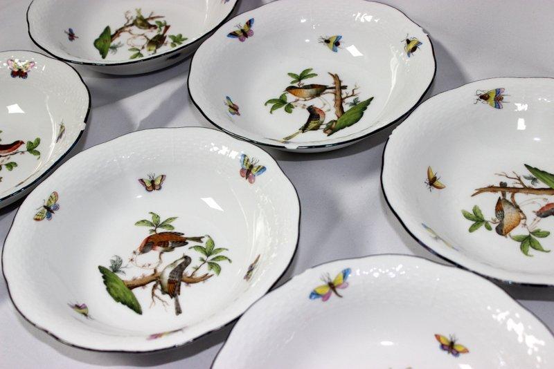 """12 Herend """"Rothschild"""" Porcelain Bowls - 3"""
