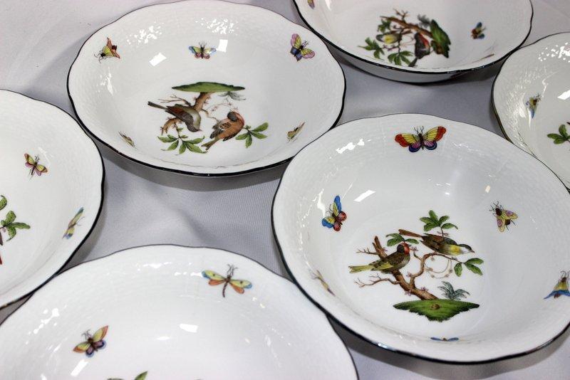 """12 Herend """"Rothschild"""" Porcelain Bowls - 4"""