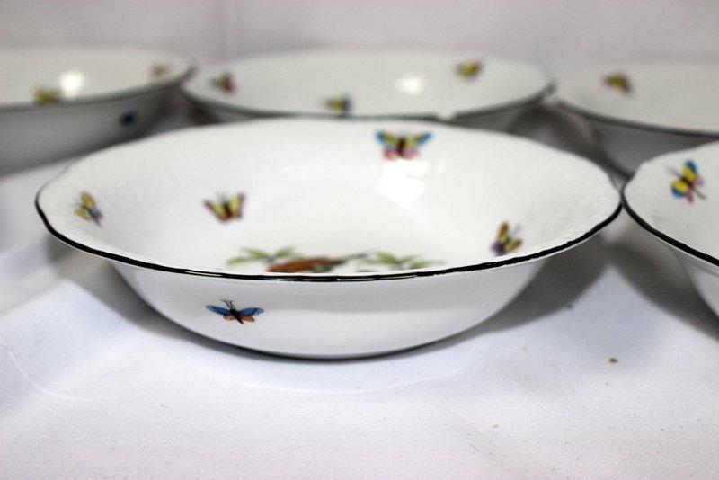 """12 Herend """"Rothschild"""" Porcelain Bowls - 5"""